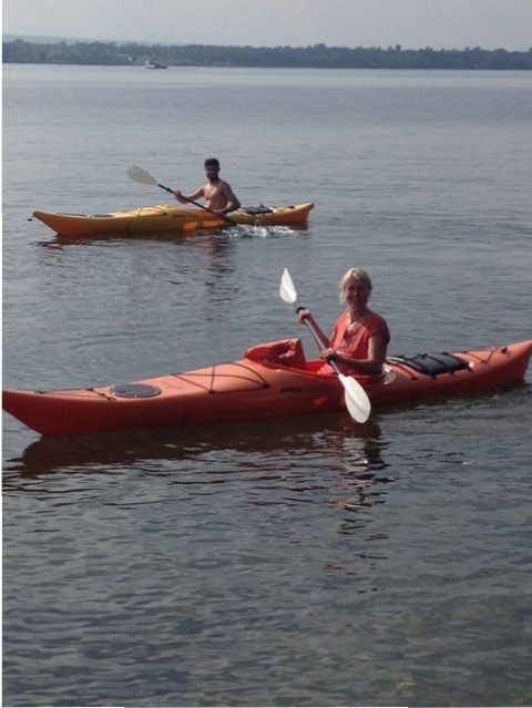 Kayaking on Lake Champlain