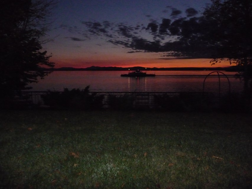 Enjoy Sunsets over Lake Champlain & Watching the Grand Isle Ferry come and go!